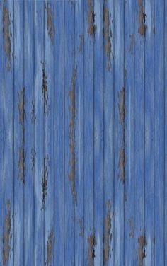 photowall / Blue Vintage Wood Wall (e20941)