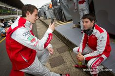 Audi Sport Factory Drivers Oliver Jarvis and Mike Rockenfeller