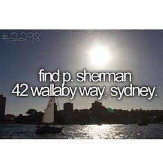 find p. Sherman 42 wallaby way, sydney