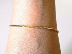 "VTG Monet Delicate Chain Bracelet Signed Minimalist Retro Costume Jewelry 7.5"" #Monet #Chain"