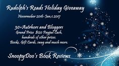 Join us for the Rudolph's Reads Holiday Giveaway and win  $120 paypal Cash:)
