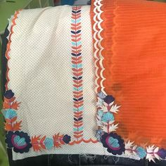 Embroidery Suits Punjabi, Hand Embroidery Dress, Embroidery Suits Design, Cutwork Embroidery, Punjabi Salwar Suits, Designer Punjabi Suits, Indian Designer Wear, New Suit Design, Salwar Kameez Neck Designs