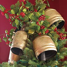101 Fresh Christmas Decorating Ideas | Top the Tree with Bells | SouthernLiving.com