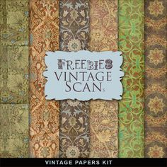 Freebies Kit of Vintage Style Backgrounds