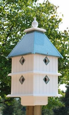 Wing & A Prayer Invite a group of birds to establish a colony in your yard with the Wing and A Prayer Plantation Bird House. This dramatic home houses eight separate birds at once, for constant avian