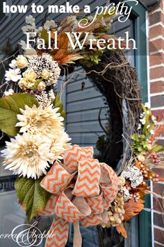 Make a Fall Wreath even if your flower arranging skills are nil! | createandbabble.com