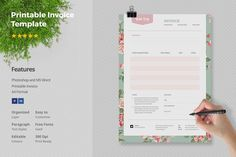 Printable Invoice Template. Stationery Templates. $12.00