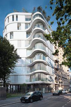 Ансамбль иммобилье де 14 logements АН присоединения ет 24 logements социальных пособий, Париж, 2015 - ECDM architectes, работающем