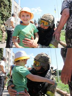 Sloviansk, Ukraine after liberation from the Russians.