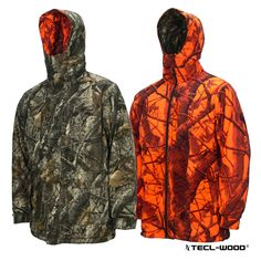 #New #TECLWOODCamo TECL-WOOD Multi-Functional Reversible Camouflage Hunting Jacket
