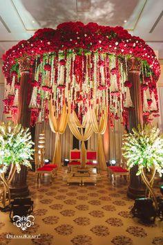 Floral Mandap Decor-Indoor Floral Mandap