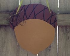 Festive Fall Acorn Wooden Door Sign by DoorDecorByEmily on Etsy, $30.00