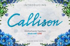 Callison Typeface by Albion Room on @creativemarket