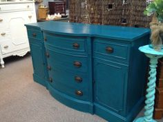 Cabinet distressed in American Paint Company Cannonball over