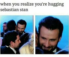 Does Chris know how lucky he is to be hugging Sebastian Stan all the time??