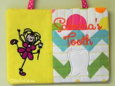Personalized Tooth Fairy Pillow Wall Pocket by StitchedForKids