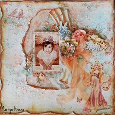My Little Princess- May Limited Edition kit by My Creative Scrapbook featuring The Princess collection By Prima. More details..http://marilynrivera.blogspot.com/