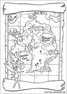 Peter Pan coloring picture - This is the actual coloring book site.