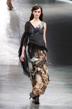 Yoda from #StarWars on a gown from Rodarte's Fall 2014 collection. #nyfw