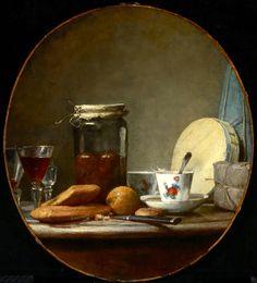 Jar of Apricots (1758), Jean-Simeon Chardin