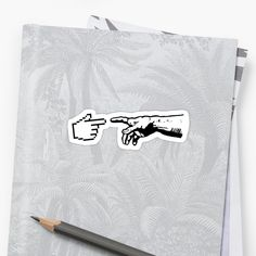 'God and The Machine Hands' Sticker by TheShirtYurt Hand Sticker, Office Humor, How To Remove, Hands, God, Stickers, Tote Bag, Funny, Prints