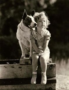 Shirley Temple & Furry Friend/Protector