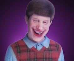 Bad Luck Brian 3D Printed Figurine  Stay positive by reminding yourself of those less fortunate than yourself with the Bad Luck Brian 3D printed figurine. No matter how grim things might look at least your unfortunate series of events in life havent become an internet meme.  $14.99  Check It Out  Awesome Sht You Can Buy