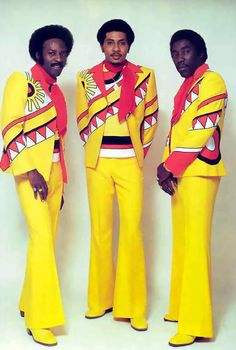 The O'Jays. Now these are what you call outfits!! They were very brave to wear them, mellow yellow or what? Plus matching shoes! Nice touch