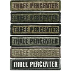 Three Percenter Morale Patches by Gadsden and Culpeper