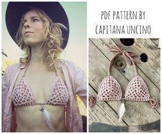 PDF-file for Crochet PATTERN Angela Crochet Bikini Top Sizes