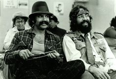 Cheech Marin and Tommy Chong, circa '78
