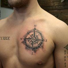 120 Best Compass Tattoos For Men - Chest Compass Tattoo For Men . - 120 best compass tattoos for men – chest compass tattoo for men – - Trendy Tattoos, Black Tattoos, New Tattoos, Body Art Tattoos, Tattoos For Guys, Sleeve Tattoos, Simple Mens Tattoos, Chest Tattoos For Men, Tatoos Men