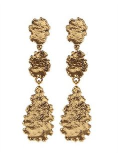 oscar de la renta TEXTURED LINKED EARRING, $150.00