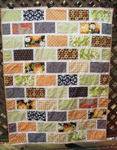 Another gorgeous easy quilt - perfect for a layer cake!