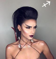 A mulher de Sagitário - Café com Astrologia  Créditos para @starlit_makeup    #signos #zodíaco #maquiagem #makeup