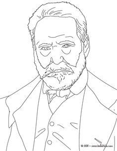 victor hugo coloring page