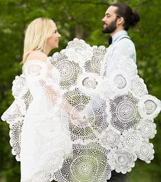 Doily Umbrella | DIY Wedding Decor by @joannstores