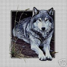 Wolf Square Crochet Pattern