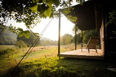 Cabin Designed & Built by the Rupert McKelvie workshop. Devon, England.