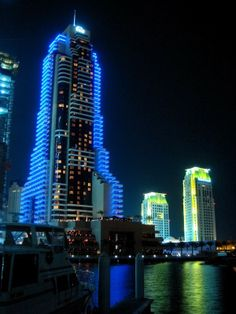 Dubai City at Night - I would love to go here one day