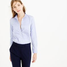 Thomas Mason For J.Crew Tuxedo Shirt In Blue (Size 1