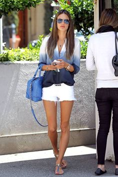 White denim and blue style