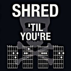 Shred 'til you're _ _ _ _. Love this. Shared from Igor Dimitrienko on FB. | Create your custom string set today at Stringjoy.com #guitar #guitars #electric #acoustic #bassguitar