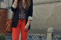 H&M; pants with Pull and Bear t-shirt