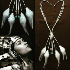 Feather necklace, made by Delilah Sieraden Boutique. https://www.oorbellenboutique.nl