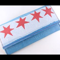 Chicago flag lady's wallet. Yes!