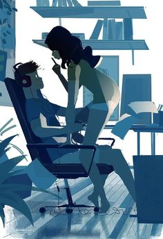 Art by Pascal Campion Couple Illustration, Digital Illustration, Pascal Campion, Wow Art, Couple Art, Illustrations, Erotic Art, Amazing Art, Art Drawings