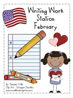 Help your students work independently with this February themed writing work station or writing center. It includes:*40 vocabulary cards: groun...