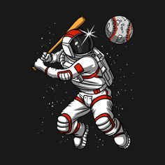 Shop Astronaut Playing Baseball With Space Planet astronaut baseball t-shirts designed by underheaven as well as other astronaut baseball merchandise at TeePublic. Cosmic Boy, Baseball T Shirt Designs, Astronauts In Space, Space Planets, Itachi, Kids Boys, Science Fiction, Spiderman, Nature Photography