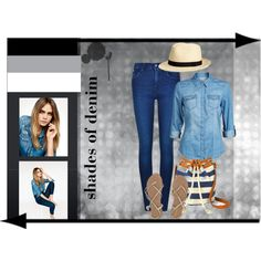 shades of denim by vill-ain on Polyvore featuring polyvore, fashion, style, ONLY, Calvin Klein, Billabong, Arizona and Topshop